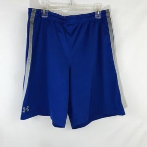 Under Armour Blue basketball shorts, sz 2XL (e5)